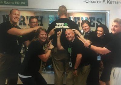 WE Believe/U Matter Program (staff pride shirts) 2017 – 2018