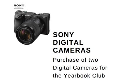 Digital Cameras for Yearbook Class 2018 – 2019